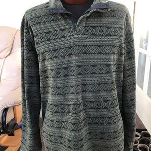 LL Bean Men's 3 button fleece pullover, XL-Tall